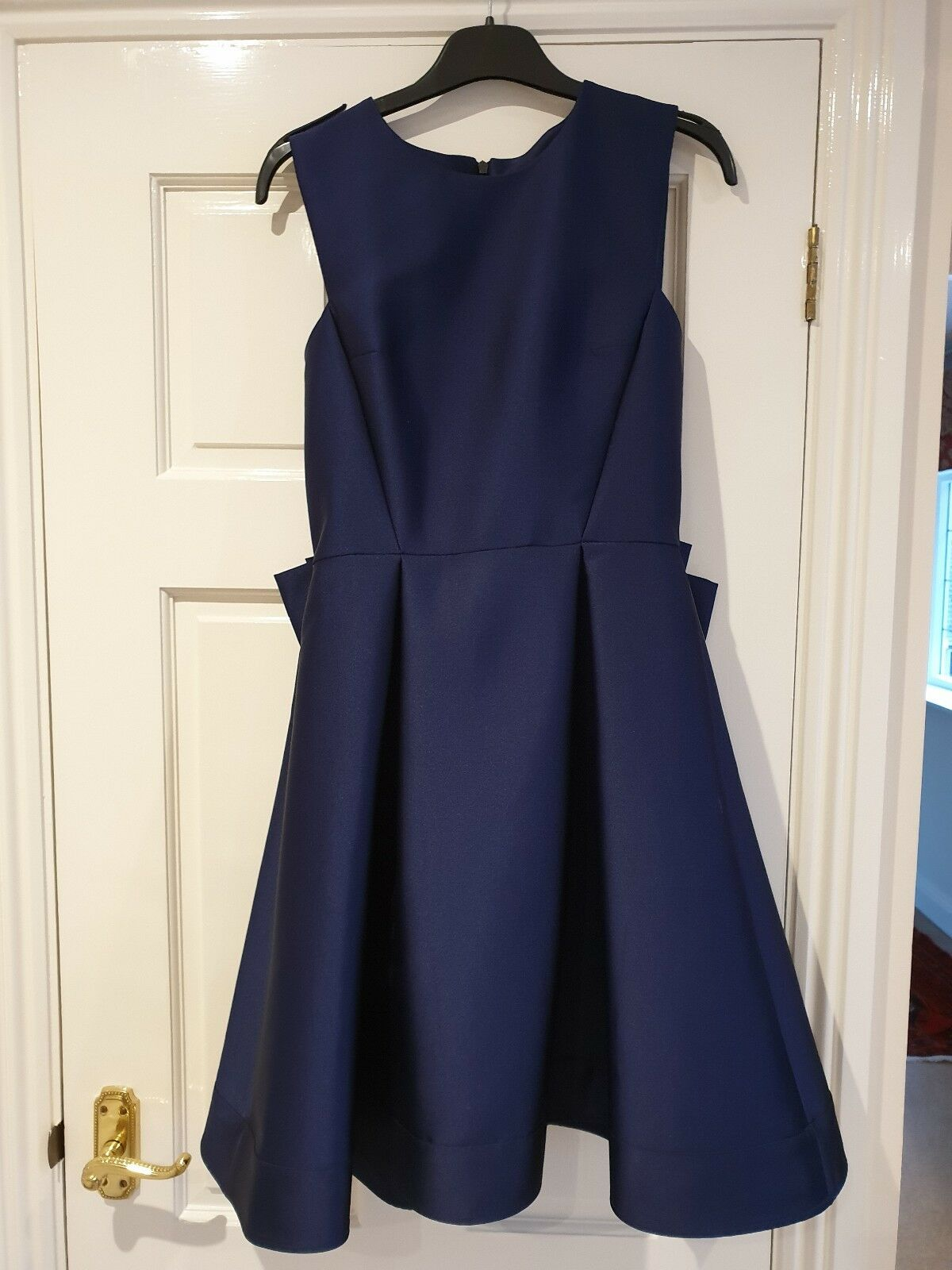 Juliet Satin Sleeveless Dress French Connection Size 8, 8, 8, bluee Prom, Bridesmaid cec14a