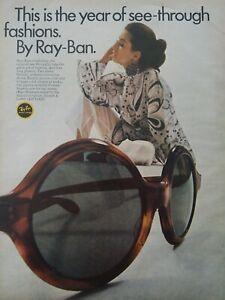 1969-Mujer-Ray-ban-Gafas-de-Sol-Transparente-Moda-Vintage-Anuncio