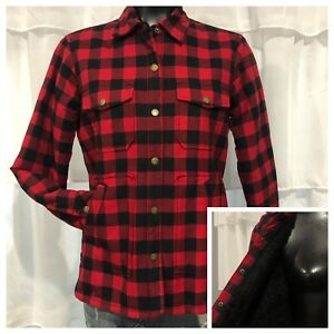 Xs Lined Nuværende Størrelse Buffalo Sherpa 0 Trucker Red Check Elliot Jacket Plaid 5qqRw4