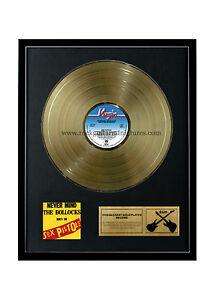 rgm1037-Sex-Pistols-Never-Mind-The-Bollocks-Dorado-DISCOS-24k-Banado-LP-30-5cm