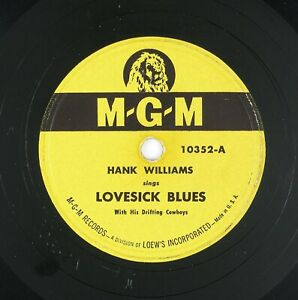 HANK-WILLIAMS-Lovesick-Blues-Never-Again-10IN-1950-COUNTRY-LISTEN