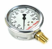 Multitech 5404-105 Liquid Pressure Gauge 160 Psi 2.5 3/8 Npt Compare Marsh
