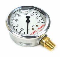 Multitech 5404-105 Liquid Pressure Gauge 160 Psi 2.5 3/8 Npt Compare Marsh