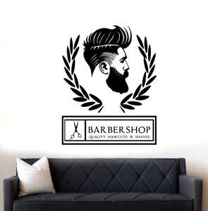 Image is loading Barber-Shop-Hipster-Wall-Art-Sticker-Decal  sc 1 st  eBay & Barber Shop Hipster Wall Art Sticker/Decal | eBay