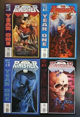 PUNISHER YEAR ONE #1 2 3 4 Marvel Comic Book Series NM First Print 1994