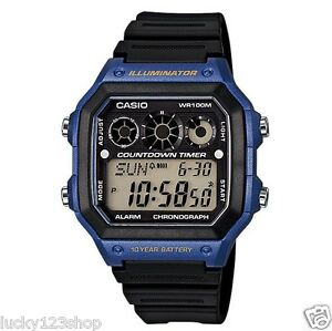 AE-1300WH-2A-Japan-Movt-New-Casio-Watch-10-Year-Battery-World-Time-Resin-Band