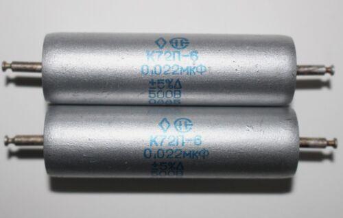 TESTED NEW MATCHED PAIR K72P-6 0.022 uF 500 V SOVIET AUDIO TEFLON CAPACITORS