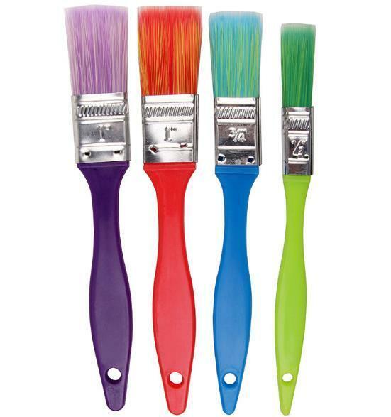 3 Inch, Blue Arts and Crafts LUTER 4Pcs Paint Sponge Applicators Double-Sided Round Artist Sponge Paint Brush for Painting