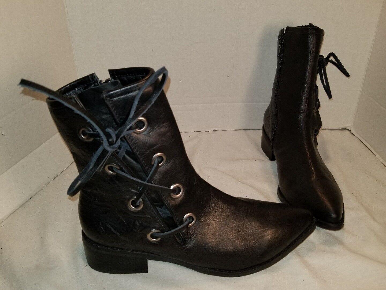 Nuevo Matisse adecuada de Cuero Negro Negro Negro botas al tobillo con Cordones Botín US 7  el más barato