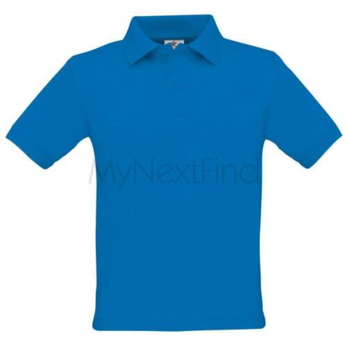 B/&C Collection Boys Girls Kids Safran Polo Shirt