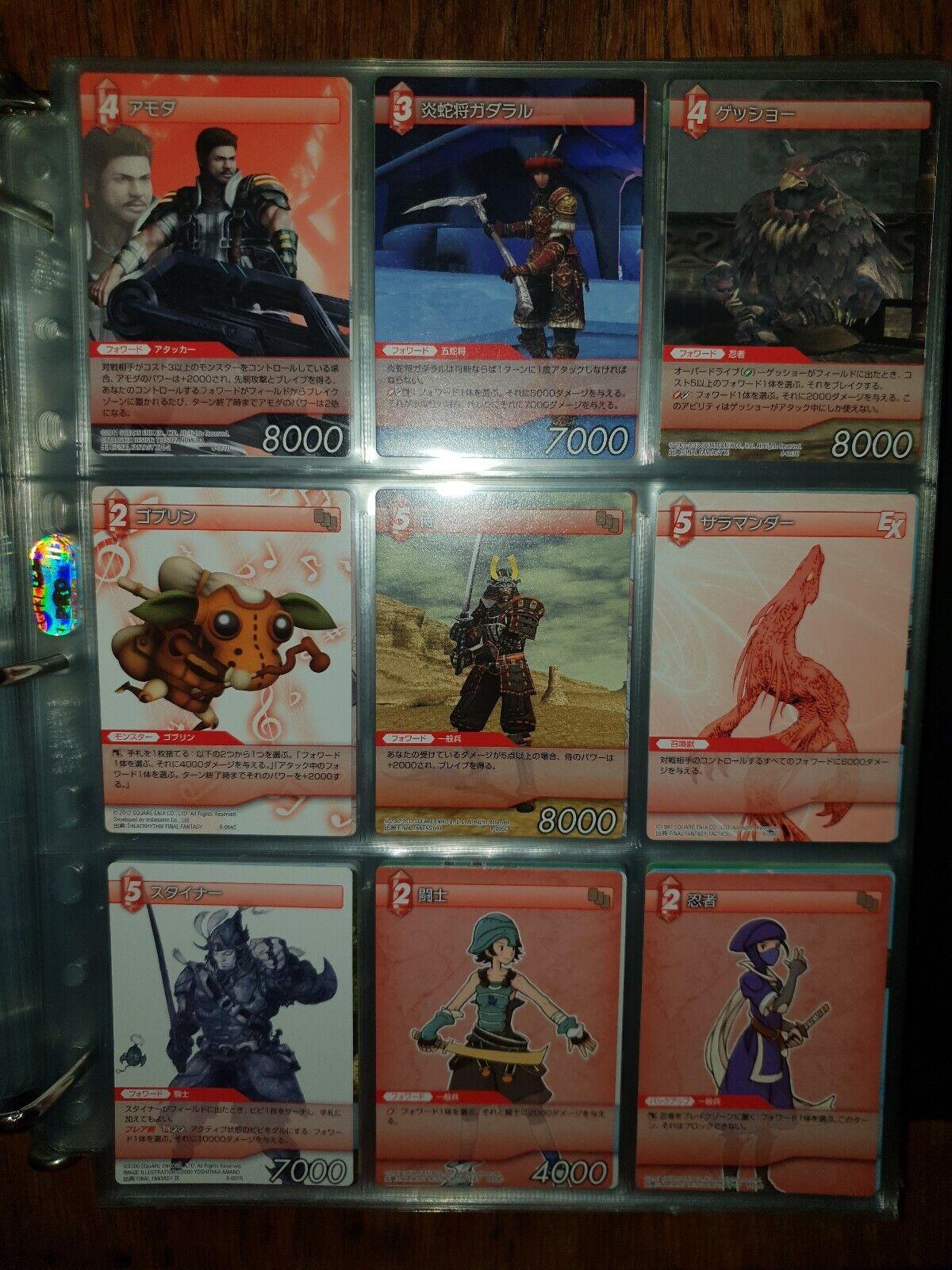 Final fantasi TCG Vol 8 japanESE Full Master Set 90 Kort Mint Sällsynt