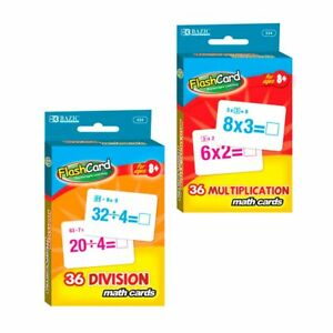 Set-of-2-Learning-Flash-Cards-Multiplication-Division-Numbers-Math-Educational