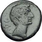 AUGUSTUS 27BC Philippi Macedonia PRIESTS Founding City Oxen Roman Coin i65376