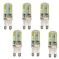 6pcs 5W G9 110V 64-LED Energy Saving White Light Bulb Crystal Spotlight Lamps