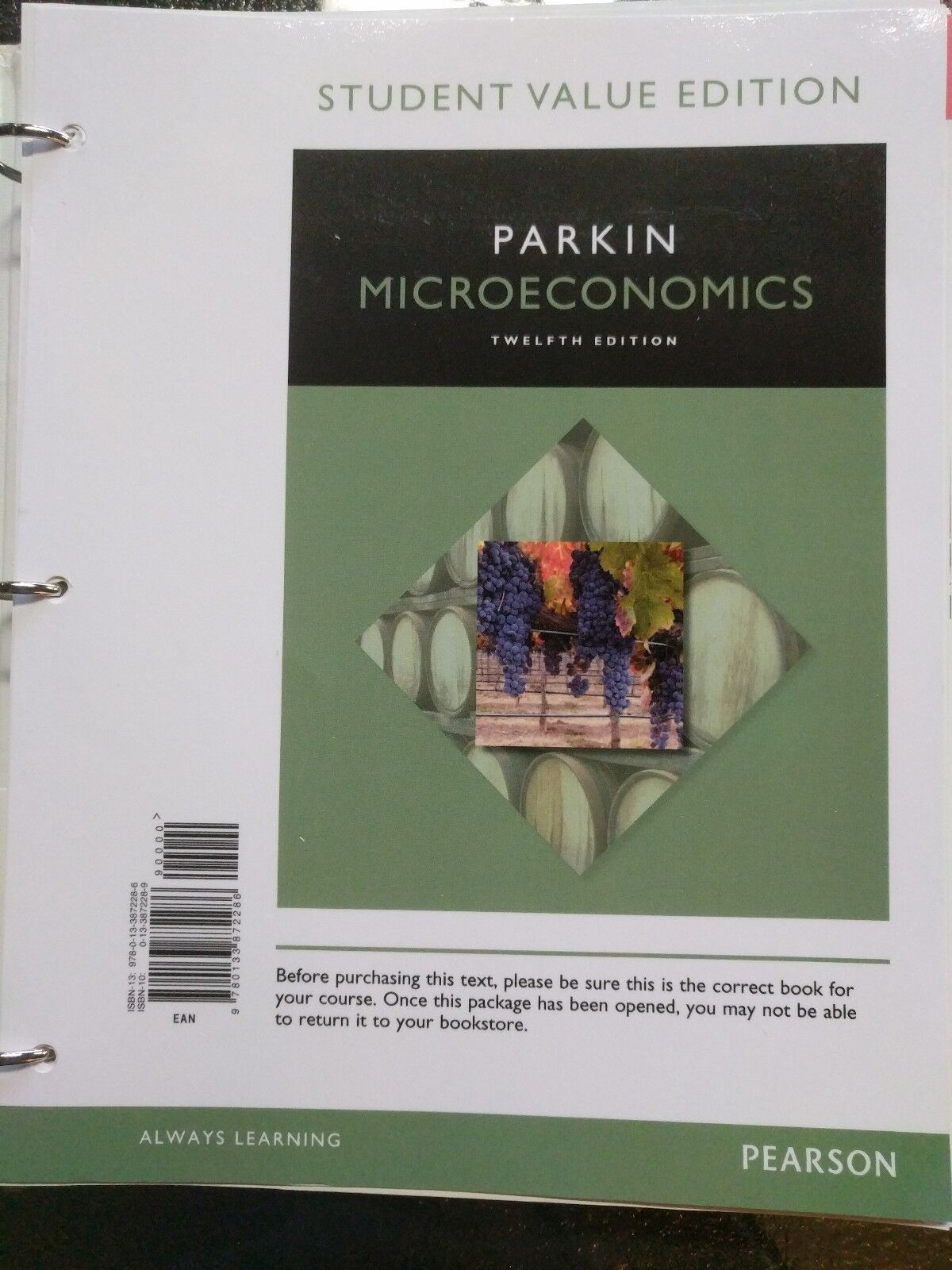 Microeconomics by michael parkin 2015 paperback ebay fandeluxe Image collections
