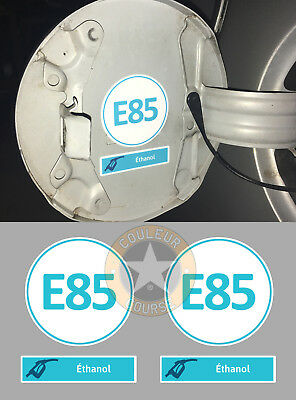 5cm SET DE 2 X CARBURANT ETHANOL E85 AUTOCOLLANT STICKER TAILLE