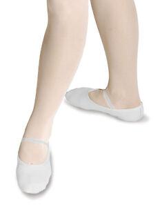 New Girls / Kinder weiß Pre genähten elastisch Ballett Schuhe - alle Größen RV