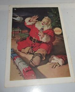 1962-Sands-Hotel-Las-Vegas-Red-Skelton-Print-Ad-amp-Coke-Coca-Cola-Santa-Claus-Toy