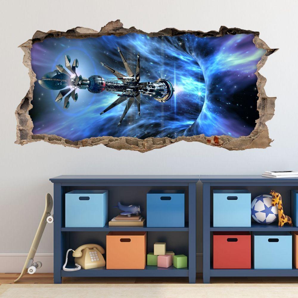 Nikima - 068 Tapisserie vaisseau vaisseau Tapisserie galaxie-trou dans le mur-chambre enfant Thé 94418d