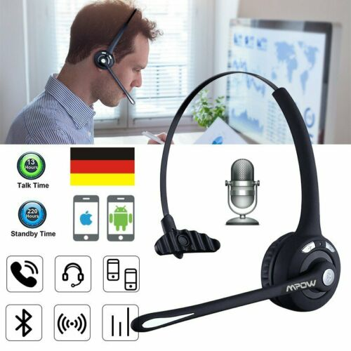 Mpow Wireless Headset Kopfhörer Mikrofon Bluetooth Kopfbügelmikrofon 330° Mic DE
