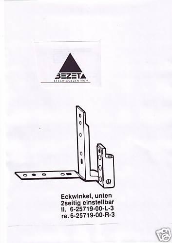 GU Eckwinkel 6 25719  RECHTS für Dreh Kipp Fenster und Türen aus Holz Flügelteil