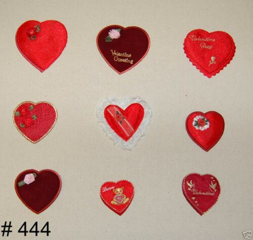 9 pc LOT~ VALENTINES CANDY Chocolate HEARTS Box ~ IRON ON APPLIQUES PATCHES