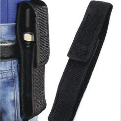 14cm Black Nylon Holder Case Belt Pouch for LED Flashlight Torch
