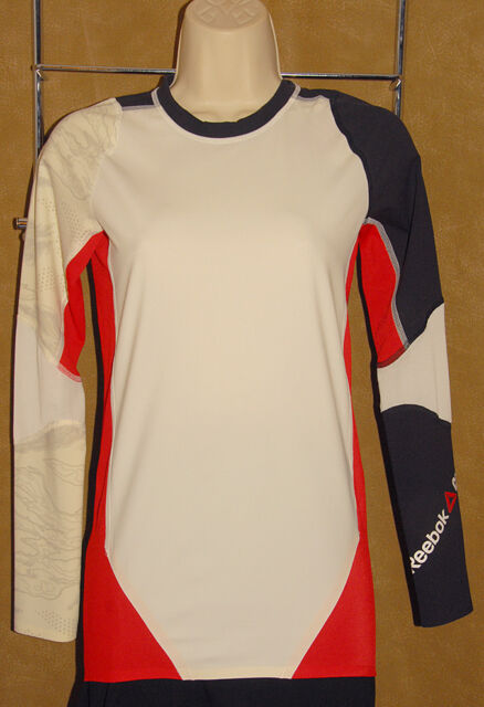 a1e982c4b48f Reebok - CrossFit - Black Red White RCF Compression Athletic Shirt sz M   NEW  75