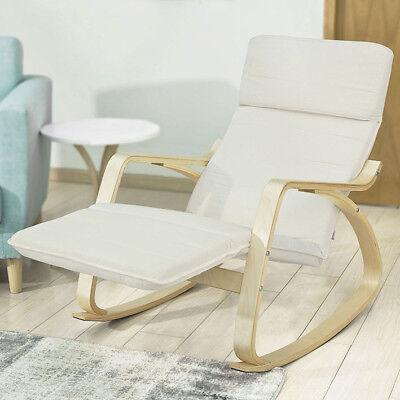 Sobuy Fauteuil A Bascule Avec Repose Pieds Design Roking Chair