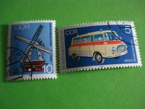 2-timbres-anciens-d-039-Allemagne-DDR-C35