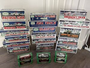 Hess Truck Collection 1993-2009 - Lot of 23 Full & Mini New In Box No Duplicates