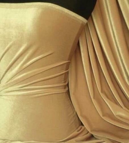 Velluto Morbido 4 Modi Spandex Elasticizzato Qualità Premium Tessuto RM559