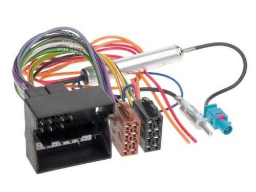 Opel Vectra C 04-08 1-DIN Radio Set Cable Adaptador Marco de Radio Charcoal