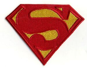 3-034-x-4-034-Small-Embroidered-Dean-Cain-style-Superman-Logo-Iron-on-Patch