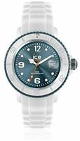 Ice-watch Unisex Quartz Watch With Blue Dial Analogue Display And White Strap