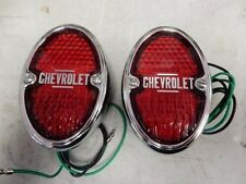 1933 1934 1935 CHEVROLET  LIGHTS TAIL LIGHTS ASSEMBLIES chrome incandescent