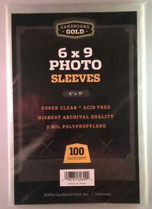 Paquete De 100 BCW 4x6 Foto 2 mil protectores de mangas de poliéster suave