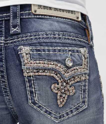 ROCK REVIVAL JEANS Skinny Low Rise Betty Faux Flap Jean 25 26 27 28 29 30 31 32
