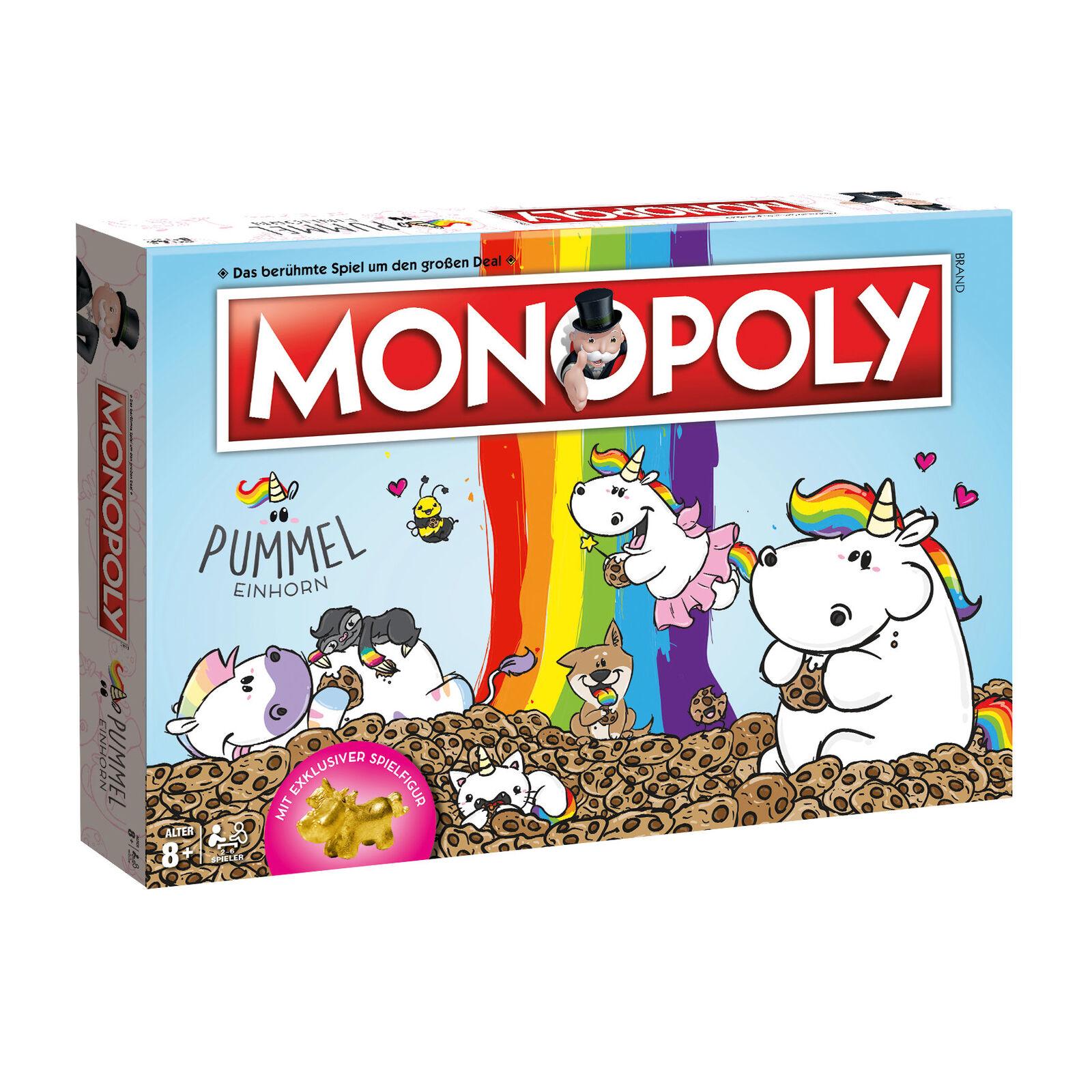 Monopoly Pummeleinhorn Collector's Edition Brettspiel Einhorn Spiel Set Set Set Deutsch 69eff6