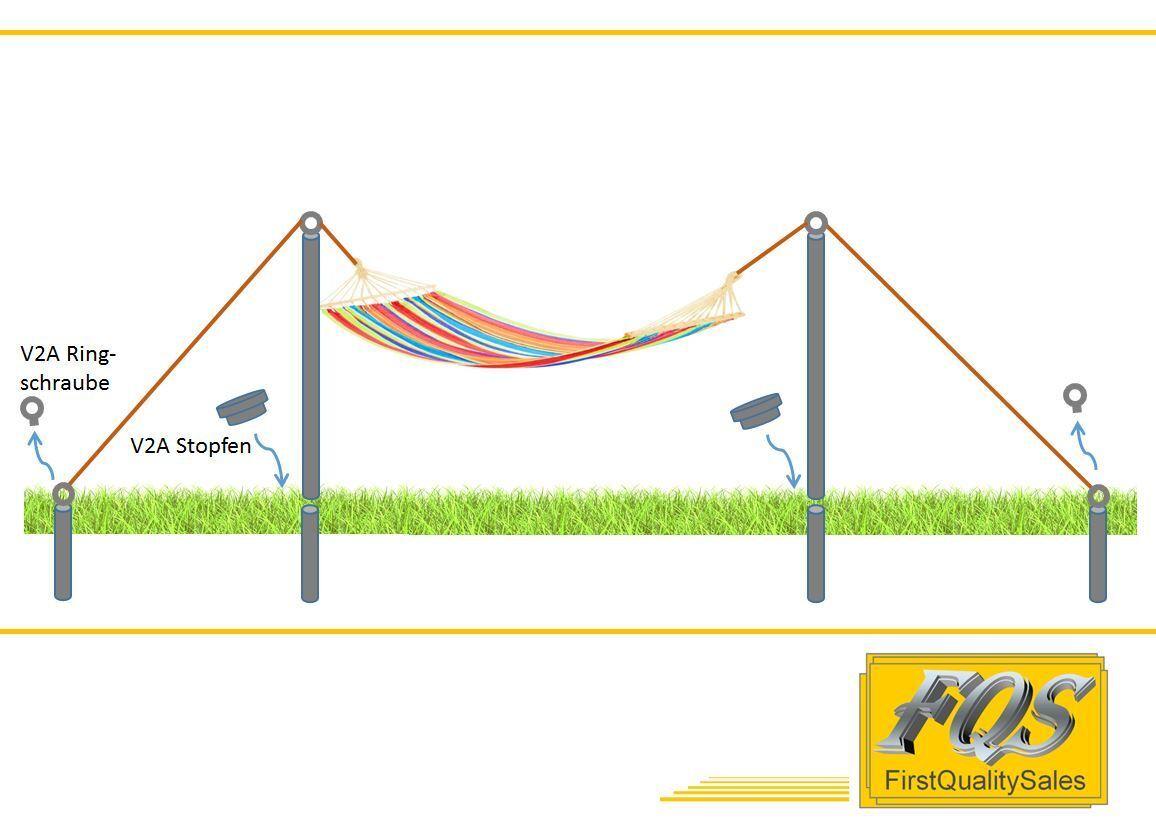 150cm Edelstahl Hängemattengestell  NEU  Gartenliege Sonnenliege Gartenmöbel V2A