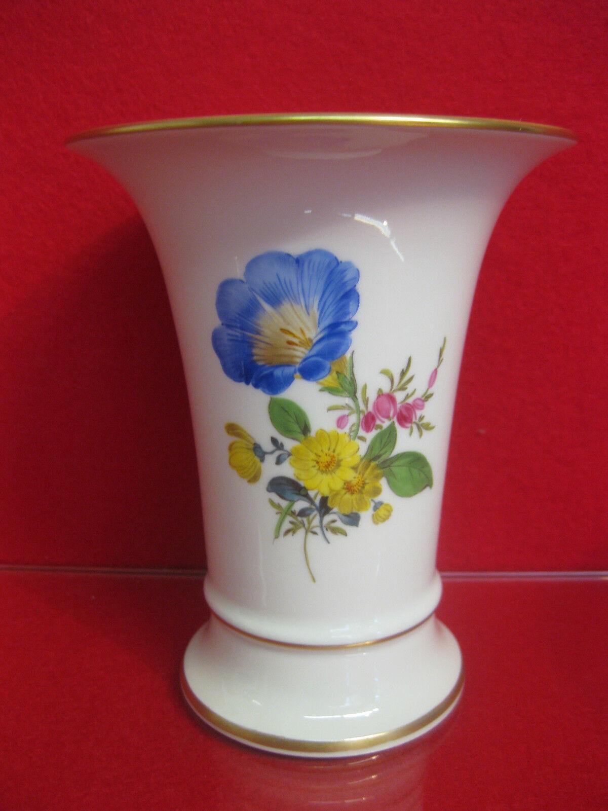 Meissen Couleuré Fleur Couleuré vase 1 choix top état allemand Kornbleume BOUQUET