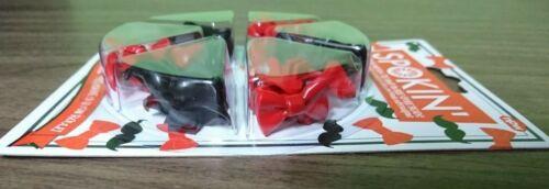 Red /& Black Spokin Bike Spoke Beads Bow Tie /& Mustache Fun Kids Hipster Gift