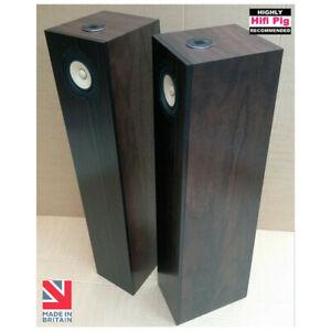 Electricbeach-Blackwoods-bodenstehenden-Lautsprecher-Paar-Walnut-NEU