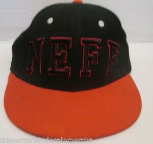 d82afa441f2 Image is loading Neff-Snapback-Mens-Black-Red-Adjustable-Ball-Hat-