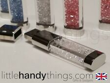 Girls/ladies Cristal 8gb Usb Bling Flash drive/pen Memory Stick Blanco