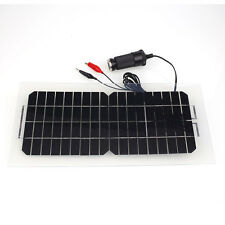 18V 5.5W Smart Solar Power Panel Car RV Boat Battery Bank Charger with Cable