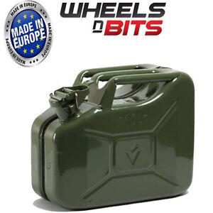 Verde-10L-Litro-Jerry-Militare-Can-Combustibile-Olio-Acqua-Benzina-Diesel