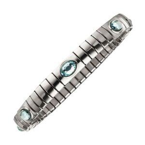 Magnetix - Armband Flexi 4599 Kristallsteine H-Blau (Breite 6mm) Magnetschmuck