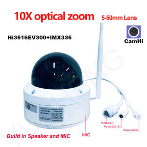 Details about CamHi 5MP Wireless 10X Zoom PTZ IP Camera MIC Speaker  Security Camera SD Card