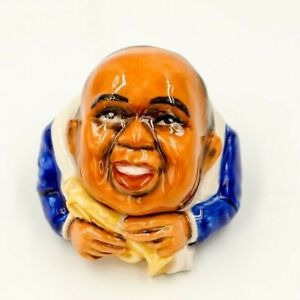 SATCHMO-Ceramic-Face-Pot-by-Kevin-Francis-Louis-Armstrong-Trumpet-Jazz-music